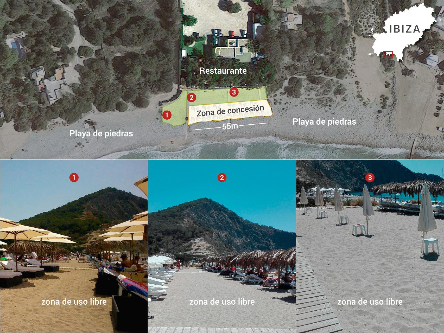 Situación en Cala des Jondal. Composición imagen: Luis Sevillano. Diario El Español